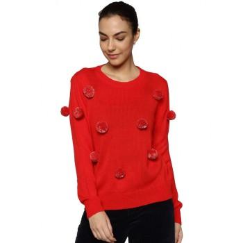 Only Casual Wear Embellished Women Sweater