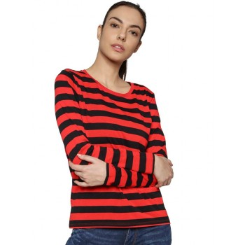 Only Casual Wear Striped Women T-shirt