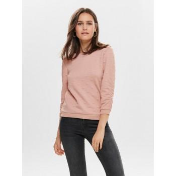 Only Women Casual Wear Self Design T-shirt
