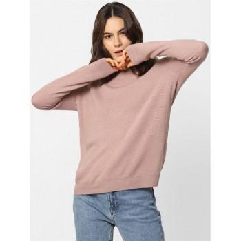 Only Women Casual Wear Self Design Sweatshirt