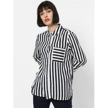 Only Women Casual Wear Striped Shirt