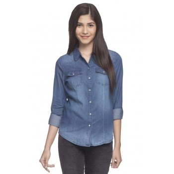 Only Women Casual Wear Solid Shirt