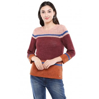 Only Women Casual Wear Color Block Sweater