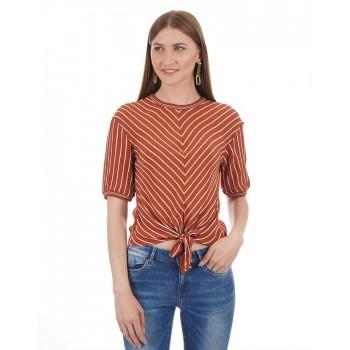 Only Women Casual Wear Striped Top