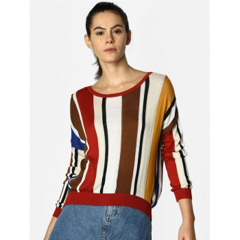 Only Women Casual Wear Striped Sweater
