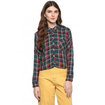 Only Women Casual Wear Checkered Shirt