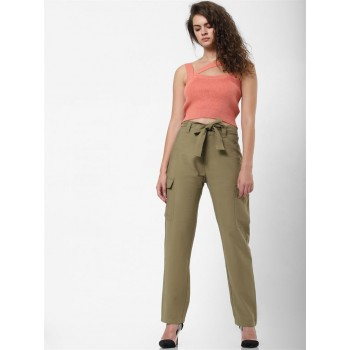 Only Women Casual Wear Green Cargo Pant