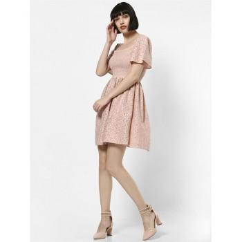 Only Women Casual Wear Self Design Dress