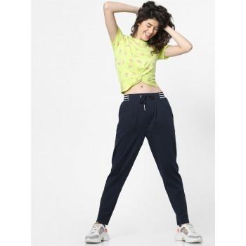 Only Women Casual Wear Navy Blue Sweatpant