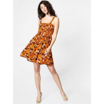 Only Women Casual Wear Brown Fit & Flare Dress