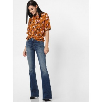 Only Women Casual Wear Brown Shirt