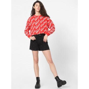 Only Women Casual Wear Black Denim Shorts