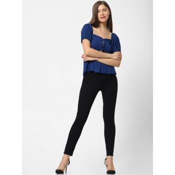 Only Women Casual Wear Royal Blue Blouson Top