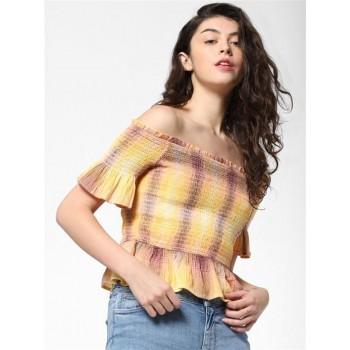 Only Women Casual Wear Multicolor Blouson Top