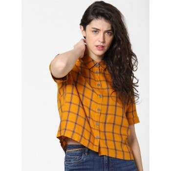 Only Women Casual Wear Yellow Shirt