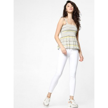 Only Women Casual Wear Multicolor Fit & Flare Top