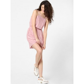 Only Women Casual Wear Pink Fit & Flare Dress