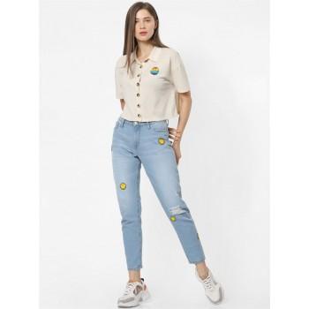 Only Women Casual Wear Beige Shirt