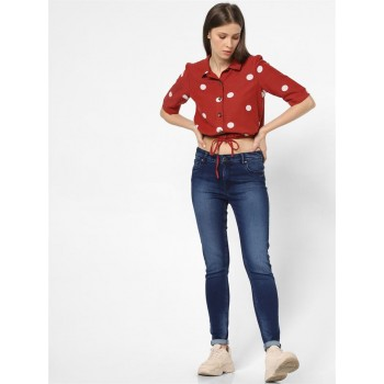 Only Women Casual Wear Red Shirt