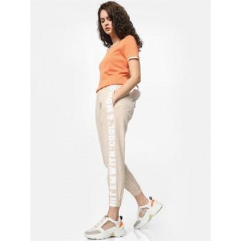 Only Women Casual Wear Beige Jogger