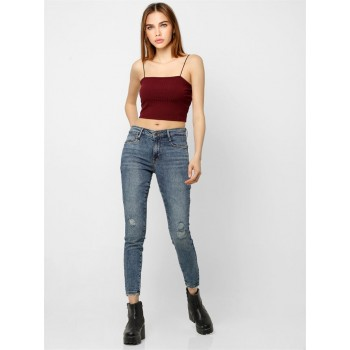 Only Women Casual Wear Maroon Cami Top
