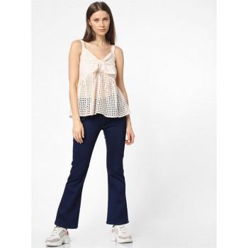 Only Women Casual Wear Beige Blouson Top