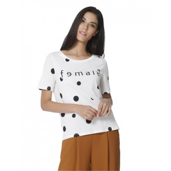 Vero Moda Women Casual Wear Polka Print Top