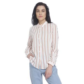 Vero Moda Women Striped Casual Wear White Shirt