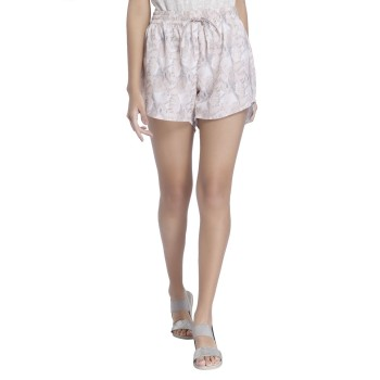 Vero Moda Women Printed Casual Wear Pink  Shorts