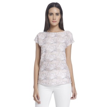 Vero Moda Women Printed Casual Wear Beige Top
