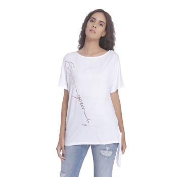 Vero Moda Women Printed Casual Wear White Top