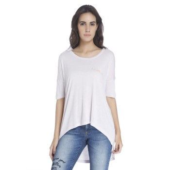 Vero Moda Women Solid Casual Wear Purple Top