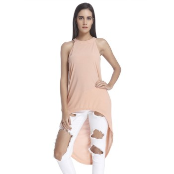 Vero Moda Women Solid Casual Wear Pink  Top