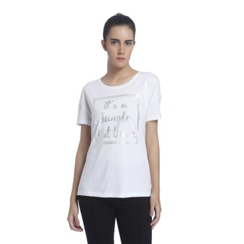 Vero Moda Women Graphic Print Casual Wear White T-Shirt