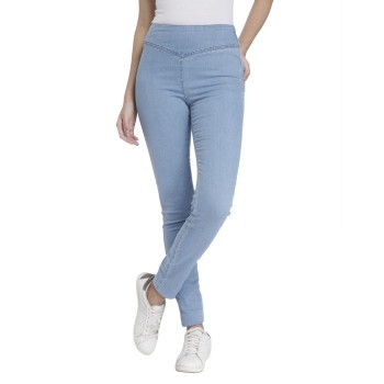 Vero Moda Women Solid Casual Wear Blue Jegging