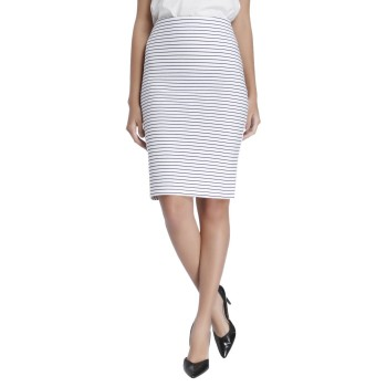 Vero Moda Women Striped Casual Wear White Skirt