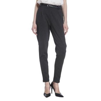 Vero Moda Women Solid Casual Wear Grey Trouser