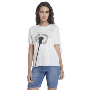 Vero Moda Women Printed Casual Wear White Top