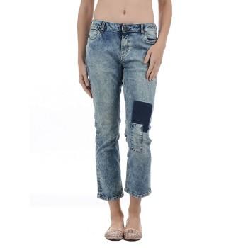 Vero Moda Women Solid Casual Wear Blue Jeans