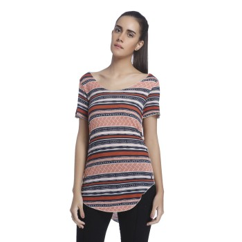 Vero Moda Women Printed Casual Wear Multicolor Top