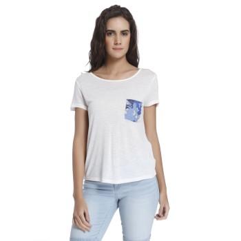 Vero Moda Women Solid Casual Wear White T-Shirt