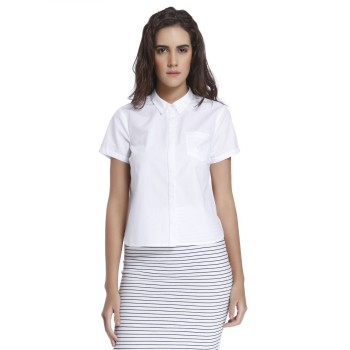 Vero Moda Women Solid Casual Wear White Shirt