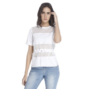 Vero Moda Women Solid Casual Wear White Top