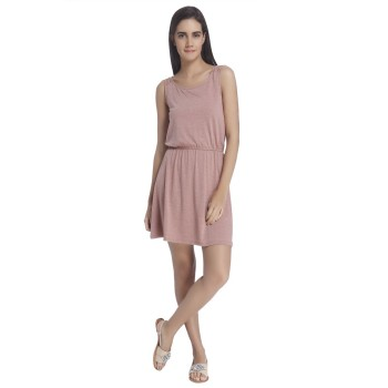 Vero Moda Women Solid Casual Wear Pink  Dress