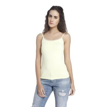 Vero Moda Women Solid Casual Wear Yellow Camisole