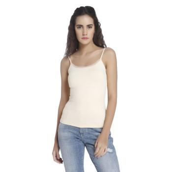 Vero Moda Women Solid Casual Wear Beige Camisole