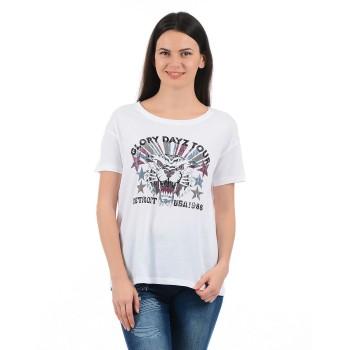 Vero Moda Women Graphic Print Casual Wear White Top