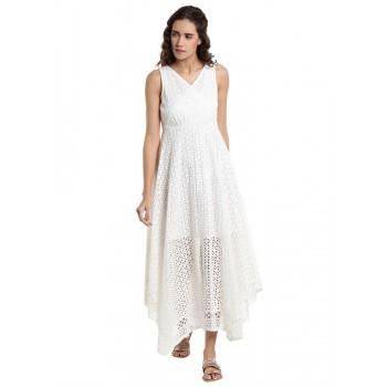 Vero Moda Women's Sleeveless White Dress