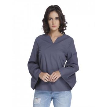 Vero Moda Women's Full Sleeve Blue Top