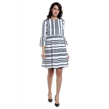 Vero Moda Women's 3/4th Sleeve White Dress